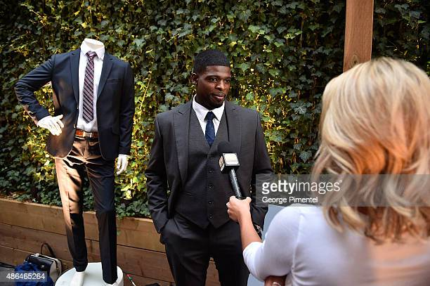 NHL player PK Subban attends the RWCO Fall 2015 suiting campaign launch at NAO Steakhouse on September 1 2015 in Toronto Canada