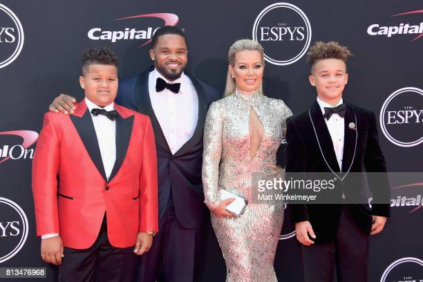 MLB player Prince Fielder Chanel Fielder and family attend The 2017 ESPYS at Microsoft Theater on July 12 2017 in Los Angeles California
