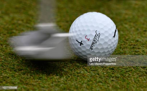 A player putting during the 1st round of The BMW PGA Golf Championships at Wentworth on May 24 2018 in Virginia Water England