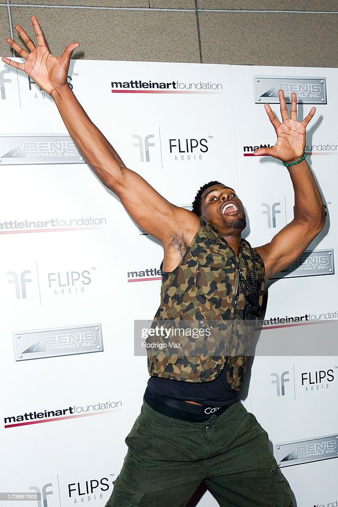 NFL player Ramses Barden arrives at the Matt Leinart Foundation's 7th Annual 'Celebrity Bowl' at Lucky Strikes on July 18, 2013 in Hollywood, California.