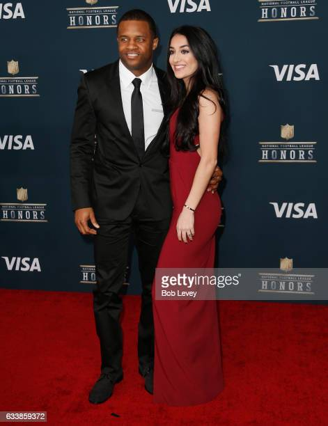 NFL player Randall Cobb and Aiyda Ghahramani attend 6th Annual NFL Honors at Wortham Theater Center on February 4 2017 in Houston Texas