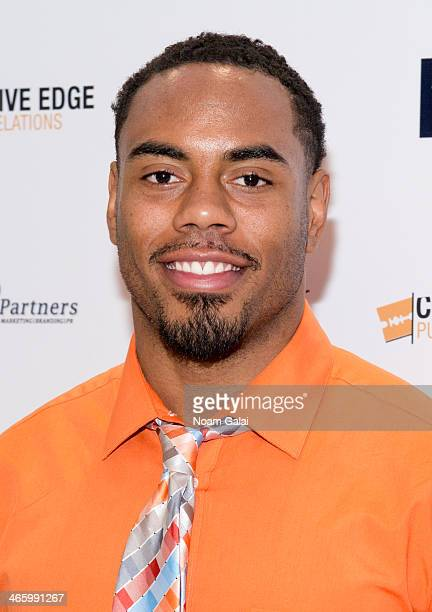 NFL player Rashad Jennings attends the 7th Annual Music Meets Fashion Event on January 30 2014 in New York City
