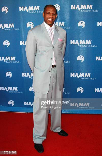 NBA player Rashad McCants aka King Sunny Black attends the 110th NAMM Show Day 1 at the Anaheim Convention Center on January 19 2012 in Anaheim...