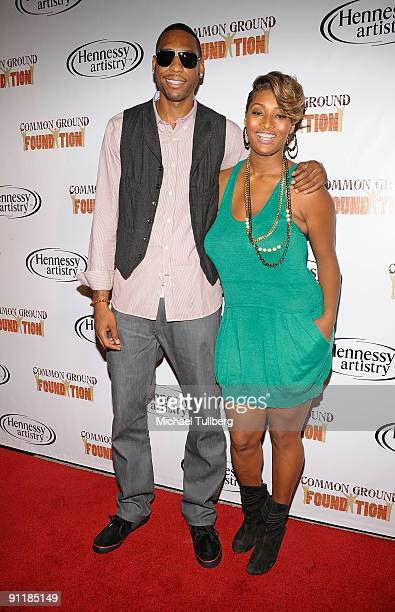 NBA player Rasual Butler of the Los Angeles Clippers and model Toccara Jones arrive at hiphop artist Common's Common Ground Foundation's Common...