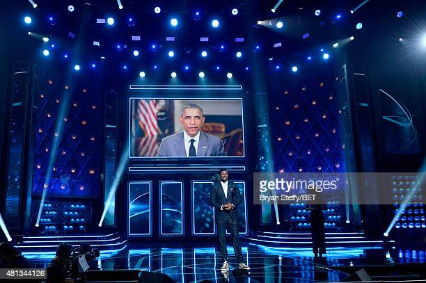 NBA player Ray Allen accepts the Man of the Year award onstage at The Players' Awards presented by BET at the Rio Hotel Casino on July 19 2015 in Las...