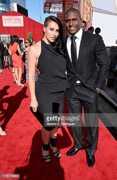 NFL player Reggie Bush and girlfriend Lilit Avagyan attends The 2013 ESPY Awards at Nokia Theatre LA Live on July 17 2013 in Los Angeles California
