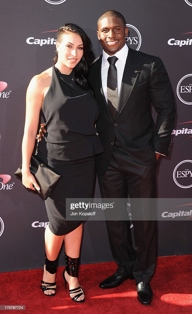 NFL player Reggie Bush and Lilit Avagyan arrive at The 2013 ESPY Awards at Nokia Theatre L.A. Live on July 17, 2013 in Los Angeles, California.