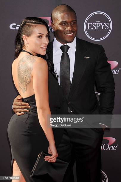 NFL player Reggie Bush and Lilit Avagyan arrive at the 2013 ESPY Awards at Nokia Theatre LA Live on July 17 2013 in Los Angeles California