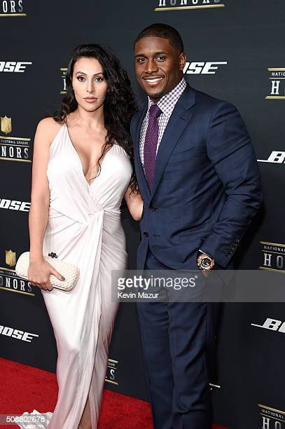 NFL player Reggie Bush and Lilit Avagyan attend the 5th annual NFL Honors at Bill Graham Civic Auditorium on February 6 2016 in San Francisco...