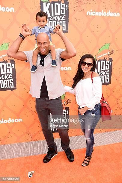 NBA player Richard Jefferson and model Teresa Lourenco attend the Nickelodeon Kids' Choice Sports Awards 2016 at UCLA's Pauley Pavilion on July 14...