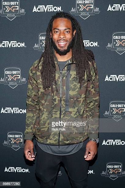 NFL player Richard Sherman attends The Ultimate Fan Experience Call Of Duty XP 2016 presented by Activision at The Forum on September 3 2016 in...