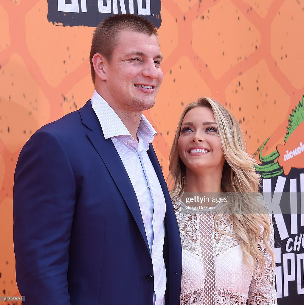 NFL Player Rob Gronkowski And Girlfriend Camille Kostek