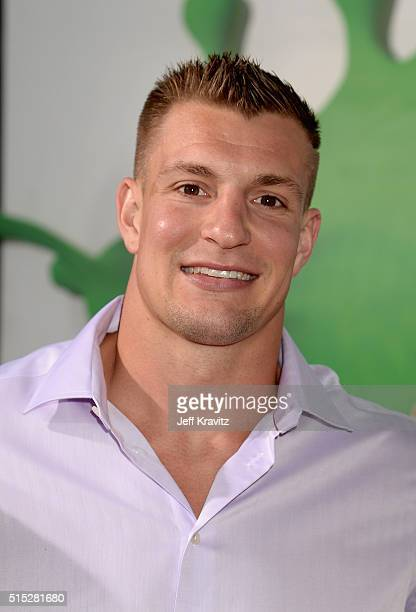 NFL player Rob Gronkowski attends Nickelodeon's 2016 Kids' Choice Awards at The Forum on March 12 2016 in Inglewood California