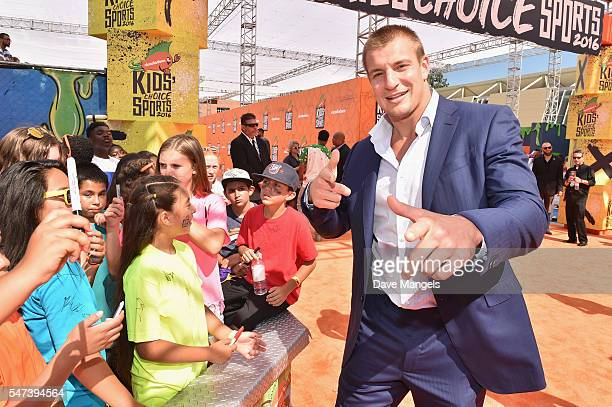 NFL player Rob Gronkowski attends the Nickelodeon Kids' Choice Sports Awards 2016 at UCLA's Pauley Pavilion on July 14 2016 in Westwood California