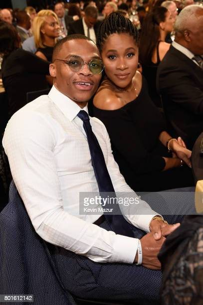 NBA player Russell Westbrook and Nina Earl attend the 2017 NBA Awards Live on TNT on June 26 2017 in New York New York 27111_002
