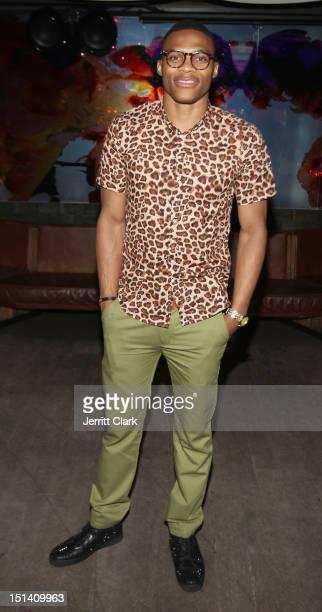 Player Russell Westbrook attends the Richard Chai Love show after party during Spring 2013 MercedesBenz Fashion Week at Catch on September 6 2012 in...