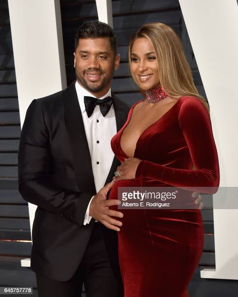 NFL player Russell Wilson and singer Ciara attend the 2017 Vanity Fair Oscar Party hosted by Graydon Carter at Wallis Annenberg Center for the...