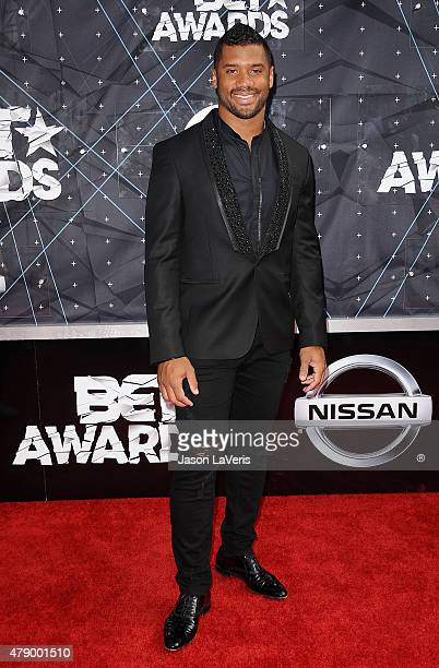 NFL player Russell Wilson attends the 2015 BET Awards at the Microsoft Theater on June 28 2015 in Los Angeles California