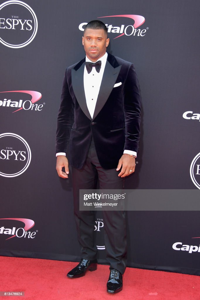 NFL player Russell Wilson attends The 2017 ESPYS at Microsoft Theater on July 12, 2017 in Los Angeles, California.