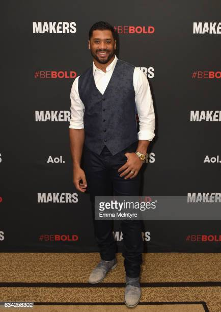 NFL player Russell Wilson attends The 2017 MAKERS Conference Day 3 at Terranea Resort on February 8 2017 in Rancho Palos Verdes California