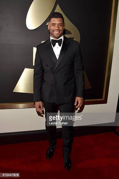 NFL player Russell Wilson attends The 58th GRAMMY Awards at Staples Center on February 15 2016 in Los Angeles California