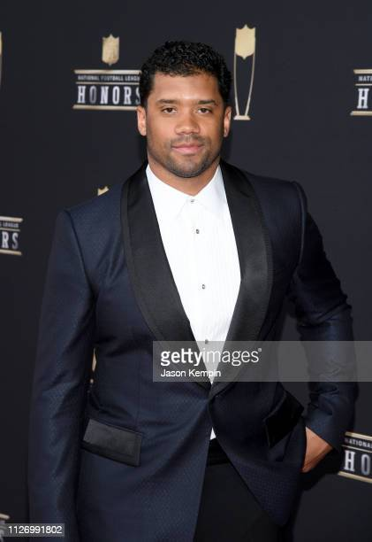 NFL player Russell Wilson attends the 8th Annual NFL Honors at The Fox Theatre on February 02 2019 in Atlanta Georgia