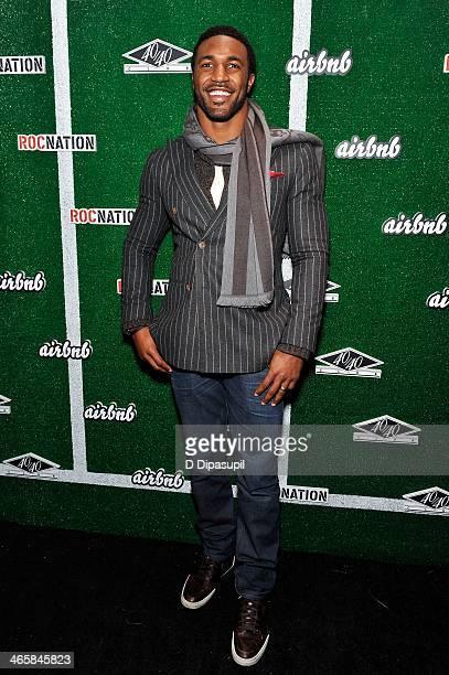 NFL player Ryan Mundy attends the Airbnb Super Suite at Roc Nation Sports Airbnb's Welcome To New York event at 40 / 40 Club on January 29 2014 in...