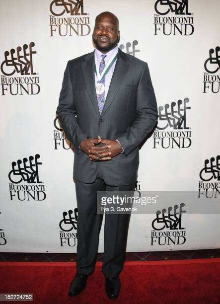 Player Shaquille O'Neal attends the 27th Annual Great Sports Legends Dinner to benefit the Buoniconti Fund to Cure Paralysis at The Waldorf=Astoria...