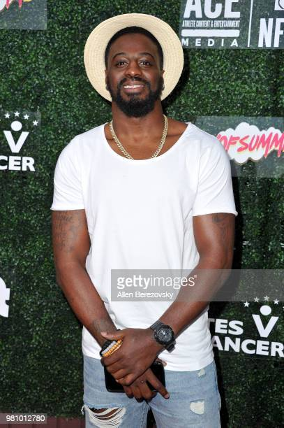 Player Shareece Wright attends First Day of Summer x Athletes vs. Cancer event at SkyBar at the Mondrian Los Angeles on June 21, 2018 in West...