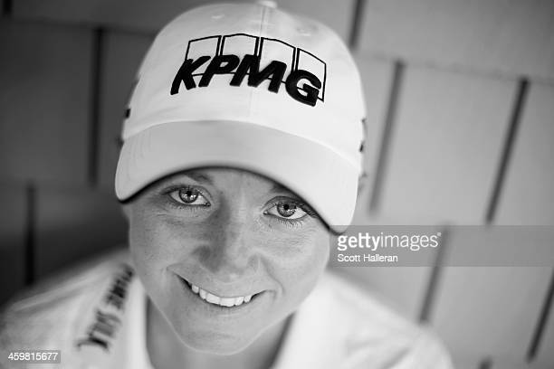 LPGA player Stacy Lewis poses for a portrait at the Medalist Golf Club on December 28 2013 in Hobe Sound Florida