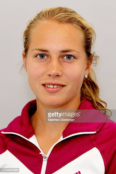 Player Stefanie Voegele poses for a portrait at Roland Garros on May 20, 2011 in Paris, France.
