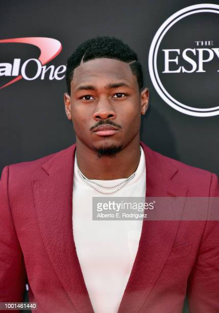 NFL player Stefon Diggs attends The 2018 ESPYS at Microsoft Theater on July 18 2018 in Los Angeles California