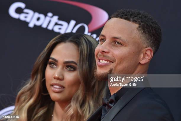 Player Steph Curry and author Ayesha Curry arrive at the 2017 ESPYS at Microsoft Theater on July 12, 2017 in Los Angeles, California.