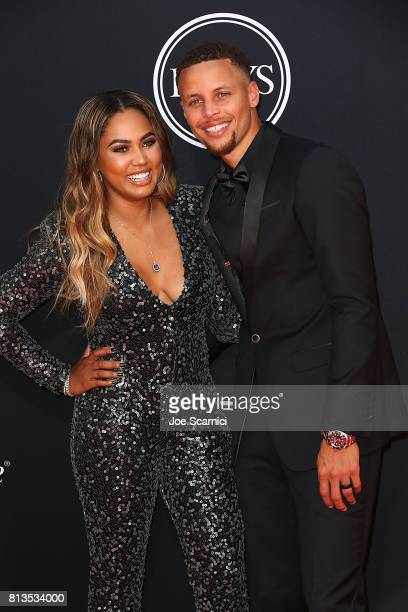 Player Steph Curry and Ayesha Curry arrive at the 2017 ESPYS at Microsoft Theater on July 12, 2017 in Los Angeles, California.