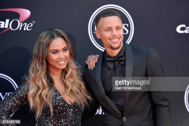 Player Steph Curry and Ayesha Curry attend The 2017 ESPYS at Microsoft Theater on July 12, 2017 in Los Angeles, California.
