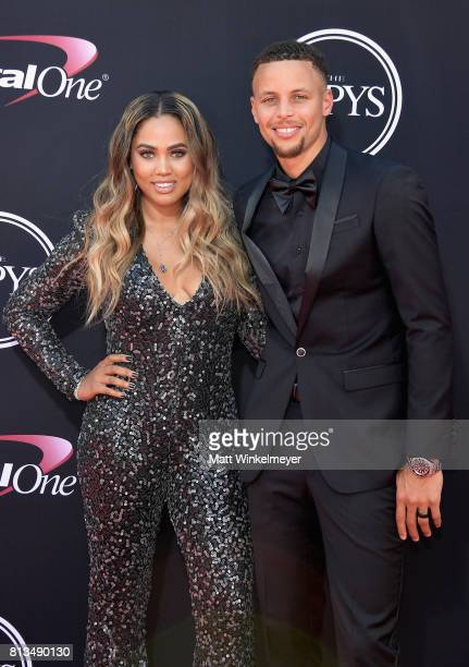 NBA player Steph Curry and Ayesha Curry attend The 2017 ESPYS at Microsoft Theater on July 12 2017 in Los Angeles California