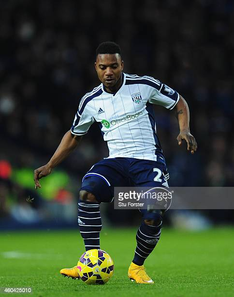 WBA player Stephane Sessegnon in action during the Barclays Premier League match between West Bromwich Albion and Aston Villa at The Hawthorns on...