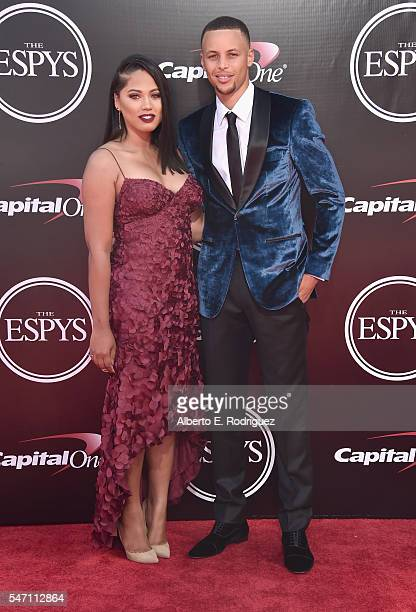 NBA player Stephen Curry and Ayesha Curry attend the 2016 ESPYS at Microsoft Theater on July 13 2016 in Los Angeles California