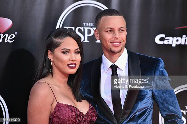 Player Stephen Curry and Ayesha Curry attend the 2016 ESPYS at Microsoft Theater on July 13, 2016 in Los Angeles, California.