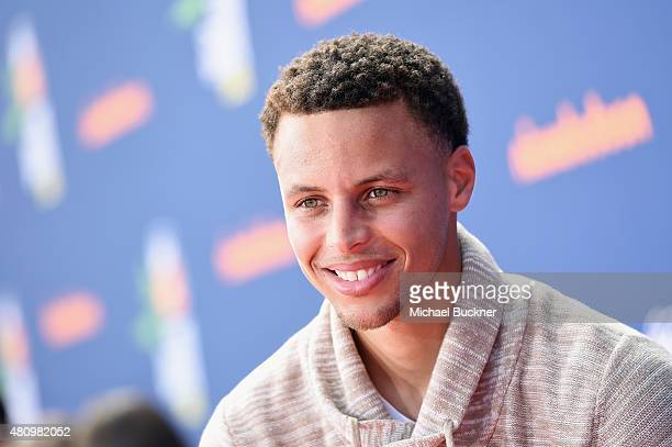 NBA player Stephen Curry attends the Nickelodeon Kids' Choice Sports Awards 2015 at UCLA's Pauley Pavilion on July 16 2015 in Westwood California