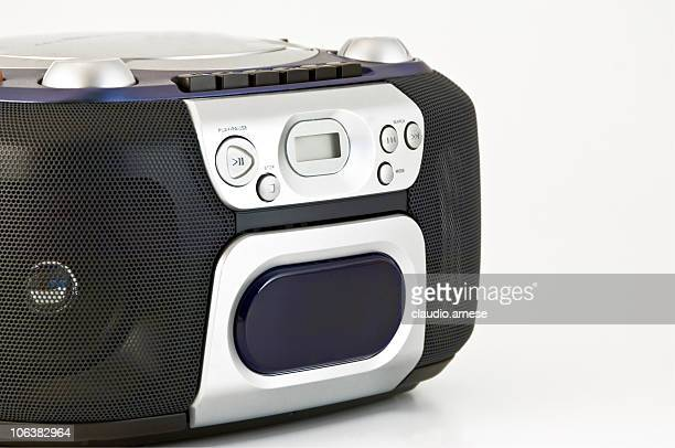cd player stereo. color image - personal compact disc player stock pictures, royalty-free photos & images