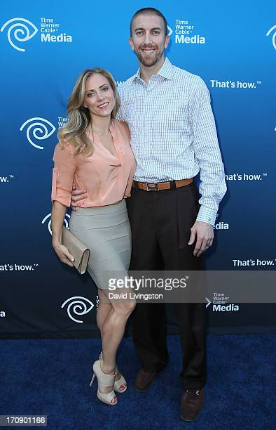 NBA player Steve Blake and wife Kristen Blake attend Time Warner Cable Media 'View From The Top' Upfront at Vibiana on June 19 2013 in Los Angeles...