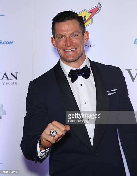 NFL player Steve Weatherford attends the eighth annual Fighters Only World Mixed Martial Arts Awards at The Palazzo Las Vegas on February 5 2016 in...