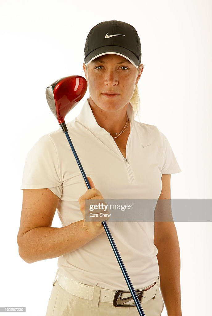 LPGA player Suzann Pettersen of Norway poses for a portrait prior to the start of the RR Donnelley Founders Cup at the JW Marriott Desert Ridge Resort on March 12, 2013 in Phoenix, Arizona.