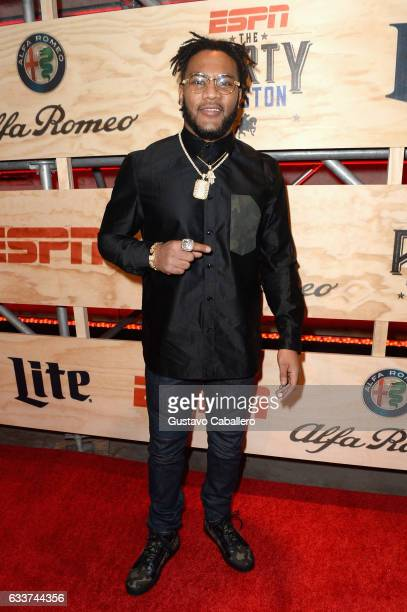 NFL player T J Ward attends the 13th Annual ESPN The Party on February 3 2017 in Houston Texas