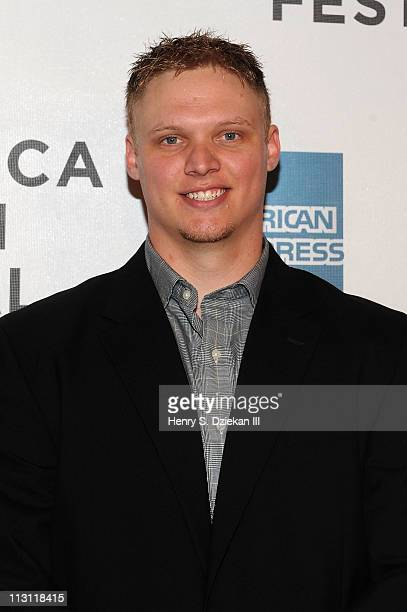 NFL player Tanner Purdum attends the premiere of 'Catching Hell' during the 2011 Tribeca Film Festival at BMCC Tribeca PAC on April 23 2011 in New...