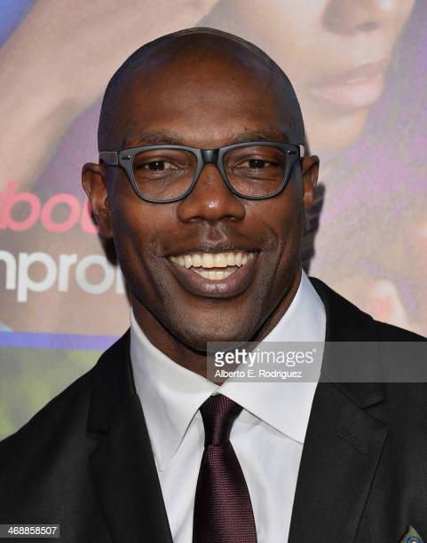 NFL player Terrell Owens arrives at The Pan African Film Arts Festival Premiere of Screen Gems' 'About Last Night' at ArcLight Cinemas Cinerama Dome...