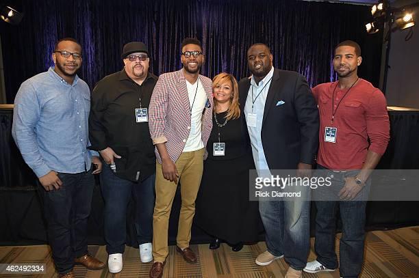 NFL player Terrence Stephens Gospel singer Fred Hammond AFI contest winner Kevin Ward Super Bowl Gospel Celebration Founder/Executive Producer...