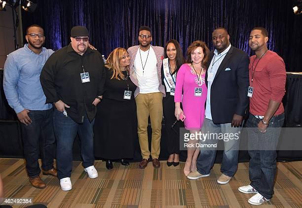 NFL player Terrence Stephens Gospel singer Fred Hammond Super Bowl Gospel Celebration Founder/Executive Producer Melanie FewHarrison AFI contest...