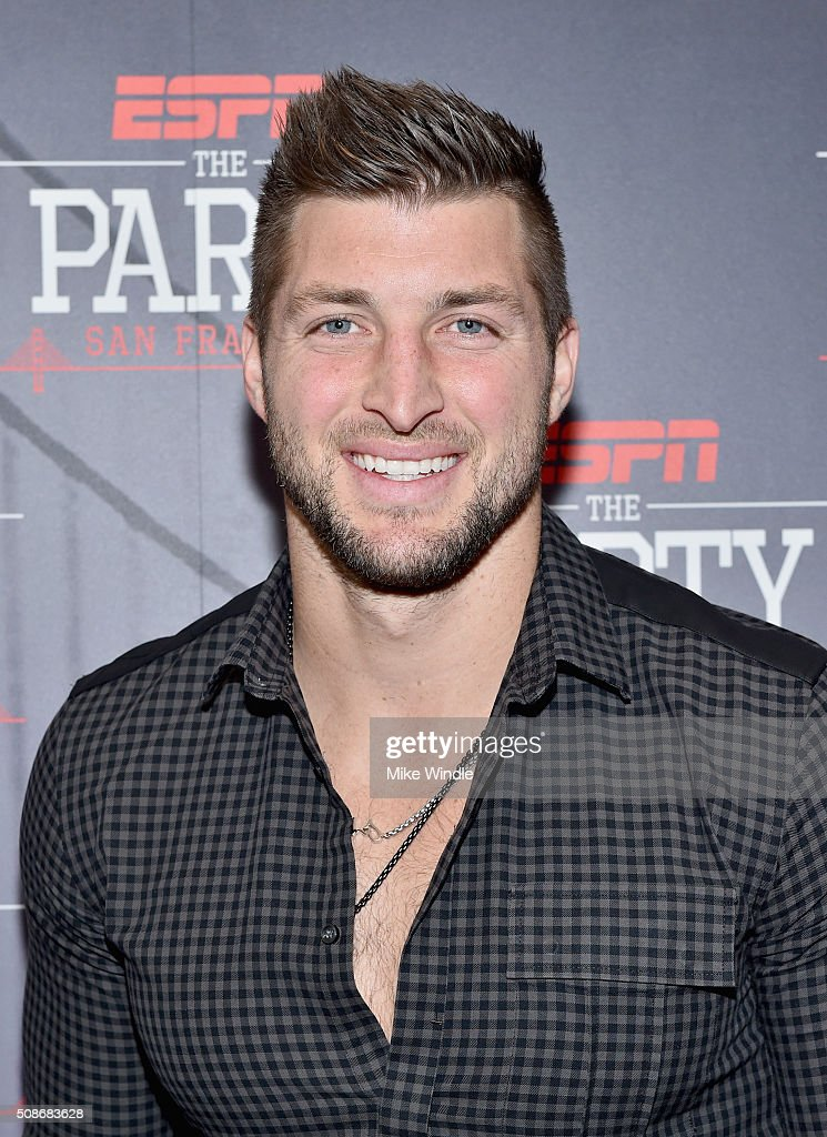 NFL player Tim Tebow attends ESPN The Party on February 5, 2016 in San Francisco, California.
